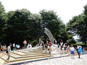 要出典 じゃぶじゃぶ池 大泉中央公園 水の広場 噴水池 東京都練馬区