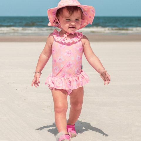 要出典 ベビー 水着 女の子 アイプレイ 水着 ワンピース オムツ機能付