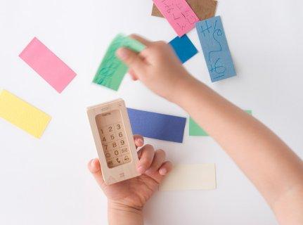 要出典 スマホ 携帯 おもちゃ マストロ・ジェッペット 木のおもちゃ キッズ携帯 スクイッロ