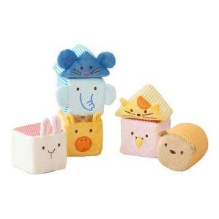 要出典 6ヶ月 赤ちゃん おもちゃ エドインター ふわふわアニマルッブロック