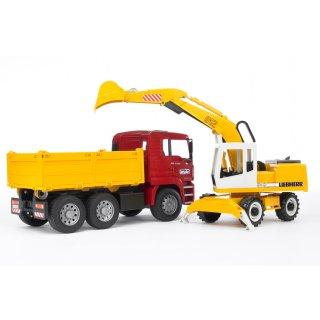 要出典 3歳 男の子 誕生日 プレゼント ブルーダー MAN トラック&LHショベル