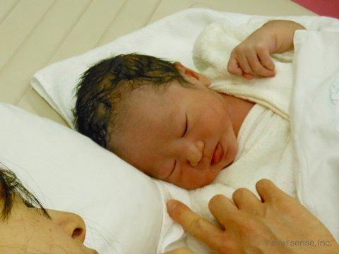 妊娠・出産体験記 エコー写真 佐久間 ロゴ入り