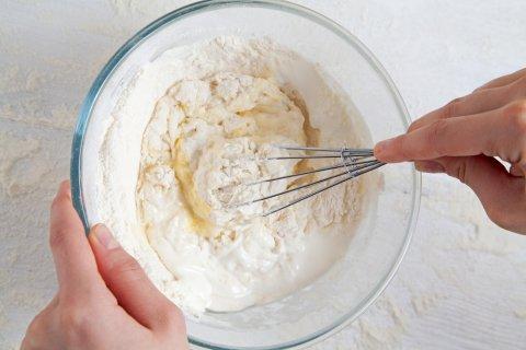 お菓子 手作り ホットケーキミックス 泡立て器 ボール 粉 パンケーキ