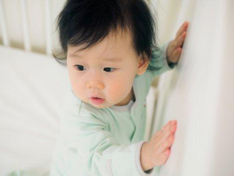 10ヶ月 日本人 赤ちゃん つかまり立ち
