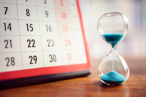 カレンダー 砂時計