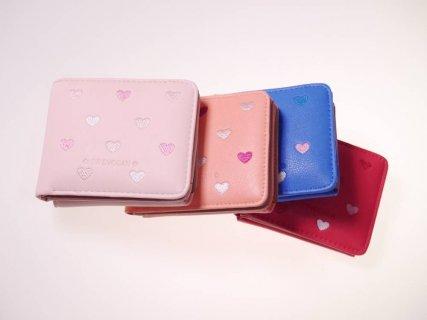 要出典 キッズ財布 ピンクミニスター ハート刺繍がま口財布