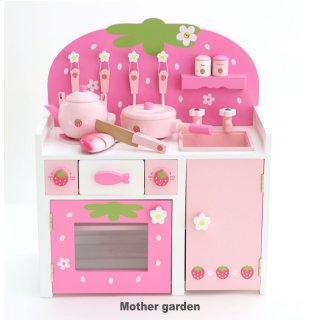 要出典 3歳 女の子 誕生日プレゼント マザーガーデン 木製 おままごと ままごと セット 野いちご システムグリルキッチン