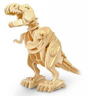 要出典 8歳 男の子 プレゼント 誕生日 動く木製3Dパズルキット ティラノザウルス
