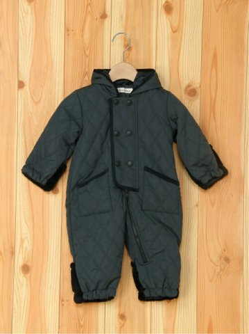 要出典 ベビージャンプスーツ branshes ポリエステルキルティングジャンプスーツ