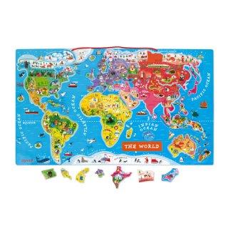 4歳 女の子 誕生日 プレゼント ジャノー パズルワールドマップ