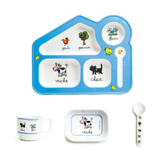 要出典 離乳食食器セット ラ シェーズロング Set de 4 pieces キッズランチプレートセット