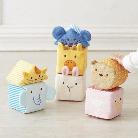 要出典 6ヶ月 赤ちゃん おもちゃ エドインター ふわふわアニマルブロック