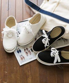 要出典 妊婦 靴 フラットシューズ ローカット スニーカー キャンバス