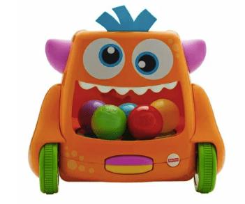 0歳~1歳の知育玩具 フィッシャープライス インファント おいかけて! ズーム&クロール モンスター