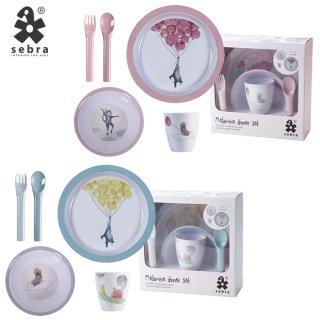 要出典 離乳食食器 sebra メラミン食器4点セット 離乳食 お食事 カトラリー