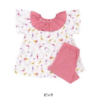 要出典 ベビーパジャマ アンパサンド 女の子 人魚柄かぶりパジャマ 6分丈