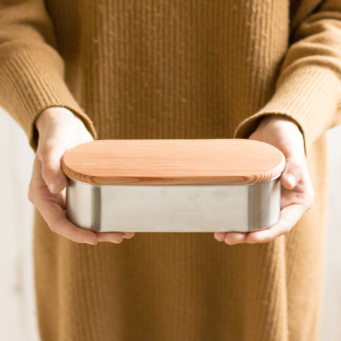 要出典 工房アイザワ お弁当箱 ステンレス 木蓋付き