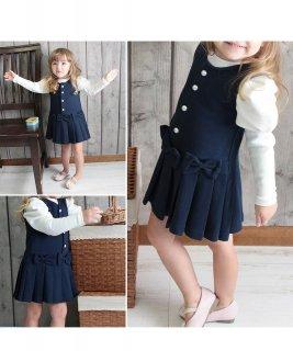 要出典  入園式 女の子 服装 子供服 Rora メラ ジャンパースカート 入園式