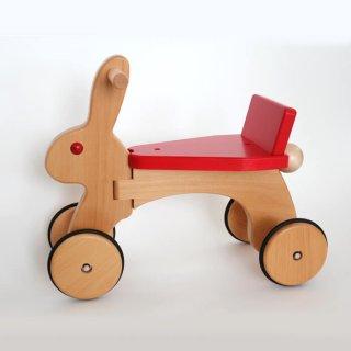 要出典  1歳 誕生日プレゼント 女の子 ラビット 木製 四輪車 天然木 木のおもちゃ