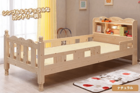 要出典 子供用ベッドパレットホワイト 子供用ベッド