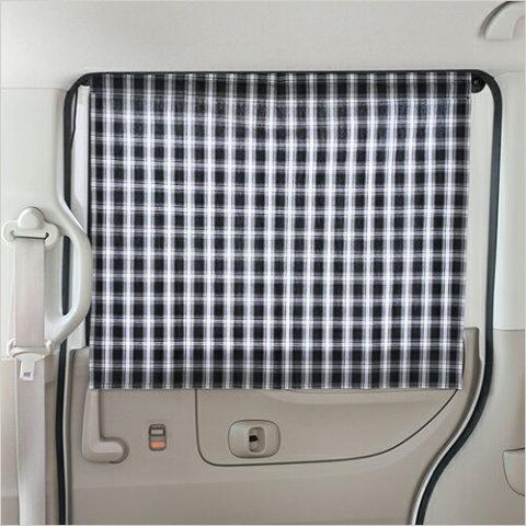 要出典 チャイルドシート 日よけ 日よけカーテン カー用品 タータンチェック