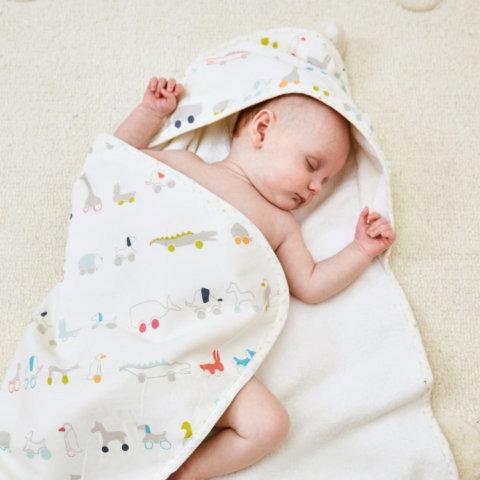 要出典 赤ちゃんバスタオル プチペハー フードタオル