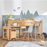 要出典 子供用ベッド 木製 ロフトベッド デスク付き ミドルタイプ
