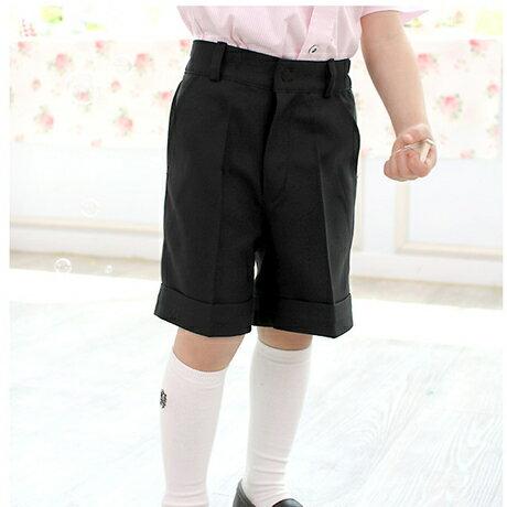要出典 入園式 男の子 男の子  ブラック半ズボン