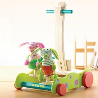 要出典 1歳 誕生日 女の子 ワンダーワールド 木製 手押し車 ホッピング・バニーウォーカー