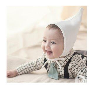 新生児 帽子 コットンエンジェルとんがり帽子