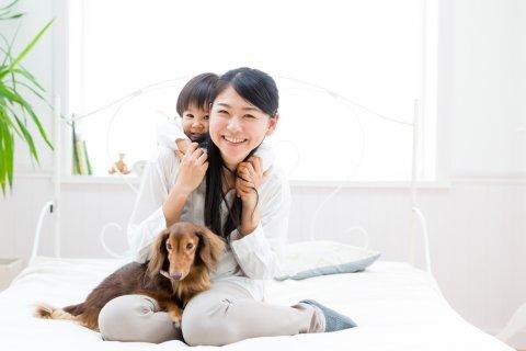 赤ちゃん ママ 犬 日本人