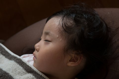 子供 寝汗 熱 日本人