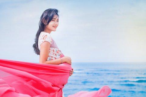 妊婦 海 日本人