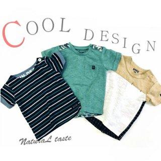 要出典 キッズ Tシャツ ダブルレインボー 大人風クールデザインTシャツ