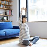 妊婦 オリジナル 日本人 ストレッチ 伸び