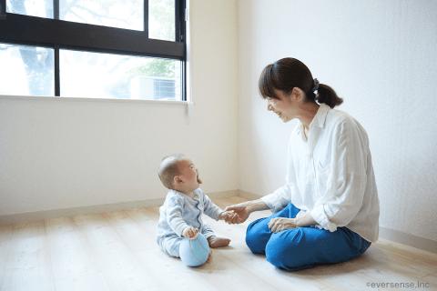 オリジナル 赤ちゃん ママ 笑顔
