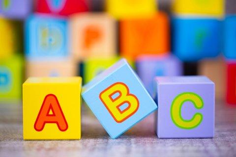 アルファベット 積み木 英語 ABC