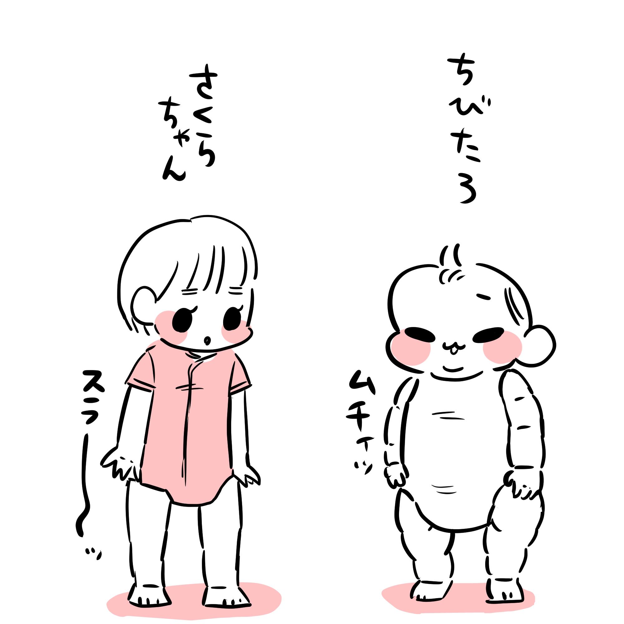 赤ちゃんの個体差ハンパねえ!|ムチムチ!プニプニ!ちびたろ!#32