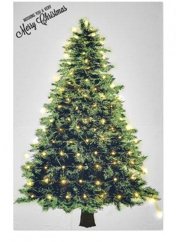 要出典 クリスマスツリー タペストリー+LEDジュエリーライト100球