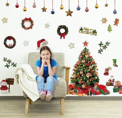 要出典 クリスマスステッカー シルキー ウォールステッカー クリスマス ザ・リアル