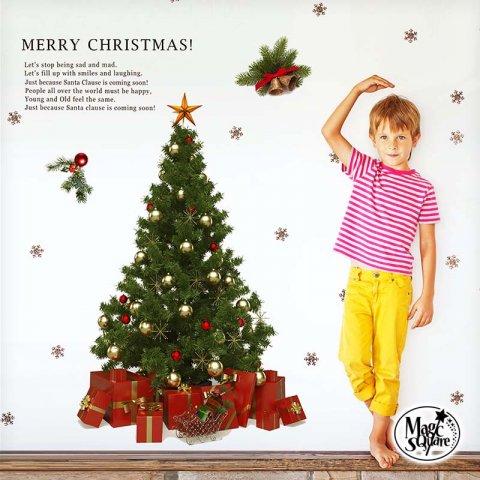 要出典 ウォールステッカー クリスマスツリー ウェルカム サンタクロース