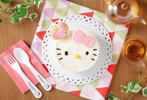 要出典 ハローキティ 苺のふんわりクリームケーキ