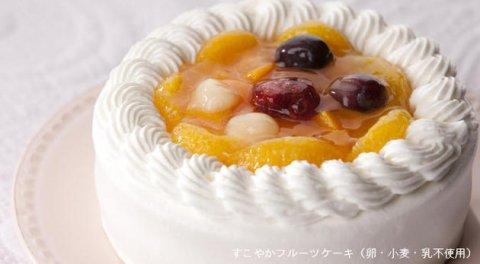 要出典 【卵乳小麦アレルギー対応】すこやかフルーツケーキ