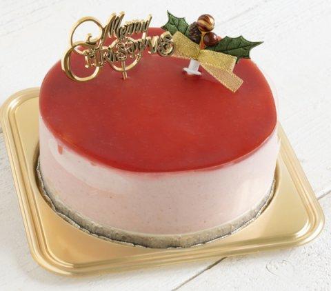 要出典 いちごの豆乳ムースのクリスマスケーキ