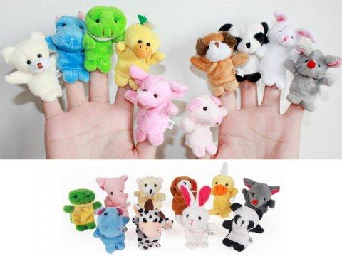 要出典 クリスマスプレゼント 赤ちゃん 指人形 動物 10種類セット