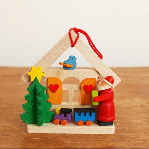 要出典 ツリー クリスマスオーナメント グラウプナー 木製オーナメント ナチュラルハウス サンタと汽車