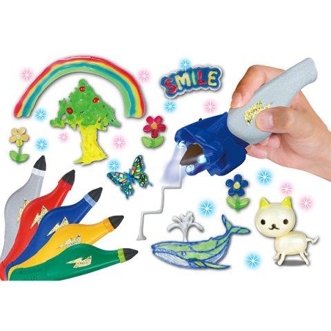 要出典 子供が喜ぶクリスマスプレゼント メガハウス 3Dドリームアーツペン カラフル5色セット