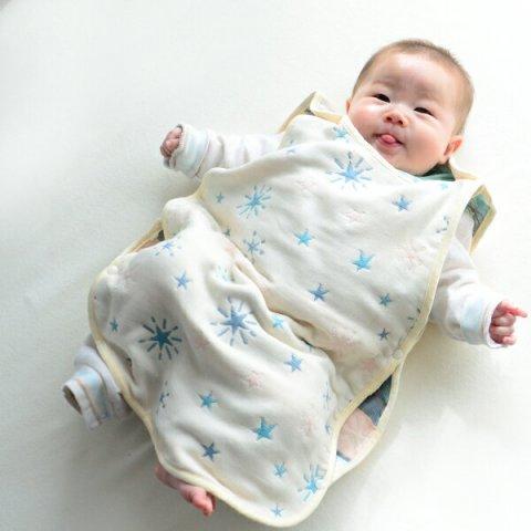 要出典 赤ちゃん スリーパー ふんわりやわらか6重ガーゼ スリーパー