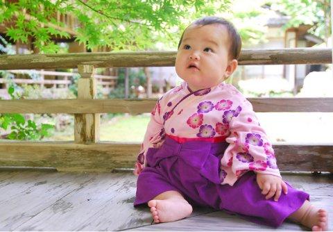 要出典 ひな祭り 着物 衣装 女の子 初節句 袴風 カバーオール