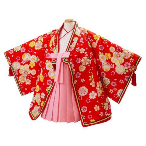 要出典 ひな祭り 着物 衣装 女の子 初節句 まるでお雛様 女児100日~1才用十二単風袴セット